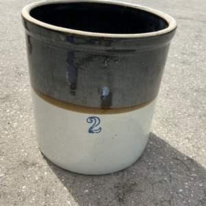 Lot # 23 Vintage Stoneware Crock