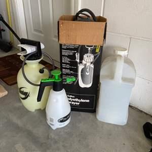Lot # 24 Craftsman Polyethylene Spray, Round-Up Sprayer & More