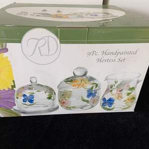 Lot # 48 Pretty Royal Danube 9 Pc. Hand Painted Hostess Set - New in Box