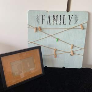 Lot # 51 Family Photo Hanger & Picture Frame