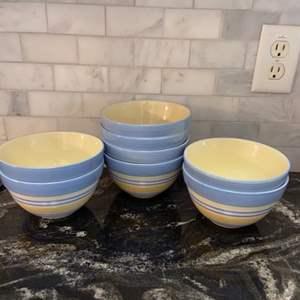 Lot # 65 Pfaltzgraff Summer Breeze Soup/Cereal Bowls (8)