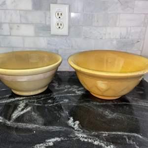 Lot # 88 Ceramic Mixing Bowls (2)