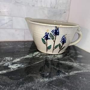 Lot # 101 Vintage Stoneware Batter Bowl - Nice!