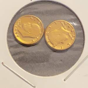 Lot # 153 1971 & 1974 Kennedy Gold Plated Coins