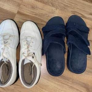 Lot # 160 Women's Footjoy Golf Shoes & Misc Sandals