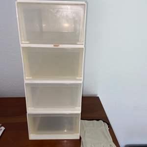 Lot # 183 Stackable Plastic Bins (4)