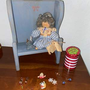 Lot # 185 Vintage Schoolhouse Doll, Pins & More