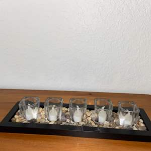 Lot # 187 Pretty LED Candle Tray Display