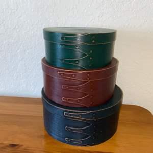 Lot # 191 Round Decorative Storage Boxes (3) - Nice!