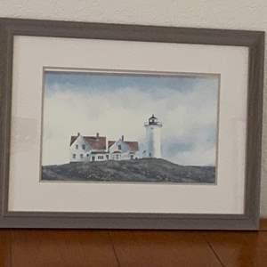 Lot # 215 Pier One Lighthouse Framed Artwork
