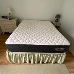 Lot # 216 Sierra Sleep Queen Mattress, Box Spring & Frame Please see description