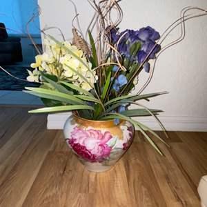 Lot # 221 Beautiful France Porcelain Vase w/ Floral Decor