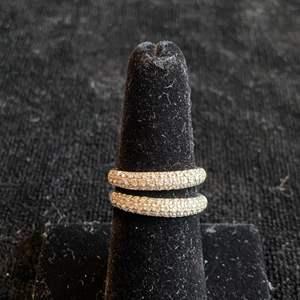 Lot # 259 Beautiful Sterling Silver Rings Sz 7 Marked 925 CZ