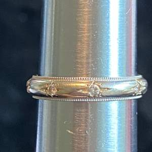 Lot # 263 Beautiful 14K Diamond Gold Ring TW 4.0g Sz 8 Marked