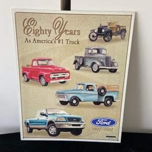 Lot # 266 Vintage Inspired Ford Metal Sign