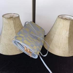 Lot # 281 Lamp Shades (2) & Storage Bag