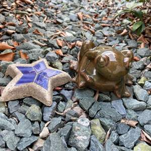Lot # 311 Frog & Star Yard Decor