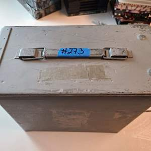 Auction Thumbnail for: Lot # 273 Metal Munitions Box w/ Buckshoot and more