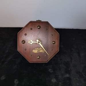 Lot # 15 Vintage Desk Clock w/ Greyhound