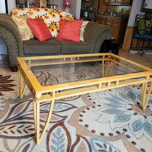 Lot # 29 Metal Coffee Table w/ Removable Glass