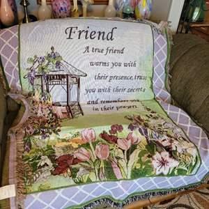 Lot # 32 Friends Throw Blanket