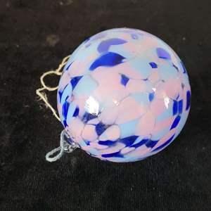 Lot # 36 Multi Colored Blown Glass Ornament