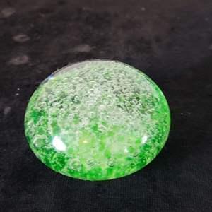 Lot # 38 Green Glass Paperweight