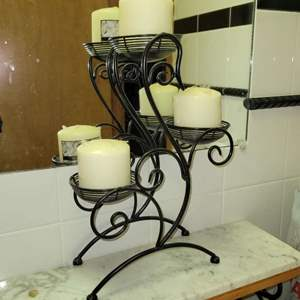 Lot # 61 Metal Candle Stand