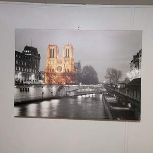 "Lot # 63 Beautiful Large Print On Canvas 39"" X 27"""