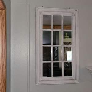 Lot # 94 Decorative Window Mirror