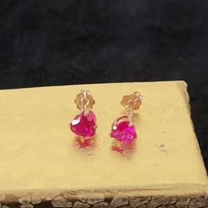 Lot # 119 10K Heart Shaped Gold Earrings - TW .48g