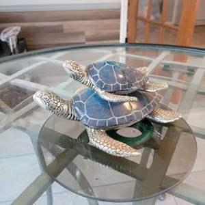 Lot # 155 Mother & Baby Turtle Garden Decor