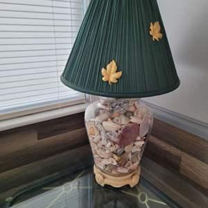 "Lot # 163 Seashell Table Lamp 24"" w/ Shade"