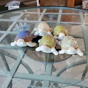 Lot # 175 (5) Stone Turtle Garden Decor