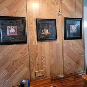 Lot # 189 (3) Nice Prints in Beautiful Frames