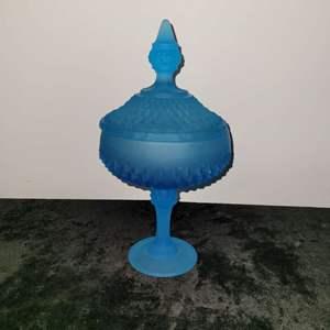 Lot # 211 Beautiful Blue Candy Dish