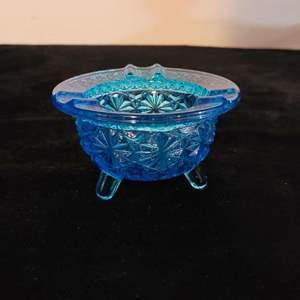 Lot # 224 Antique Cobalt Blue Ashtray