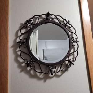 Lot # 237 Metal Round Mirror