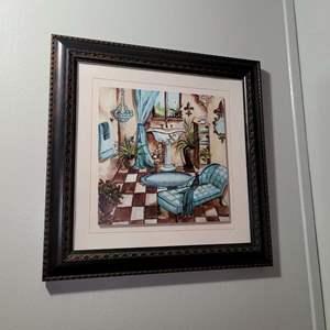 Lot # 238 Cute Bathroom Painting- Tre Sorelle