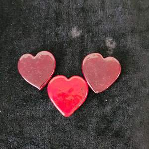 Lot # 246 (3) Glass Hearts