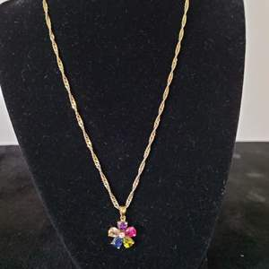 Lot # 257 Sterling Silver Necklace & Flower Charm