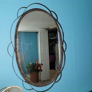 Lot # 282 Metal Hallway Mirror