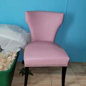 Lot # 283 Nice Wing Back Chair w/ Studding Detail