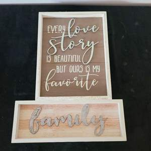 Lot # 290 (2) Home Decorative Signs