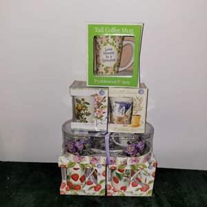 Lot # 340 Coffee Cups & Tea Cups- NIP