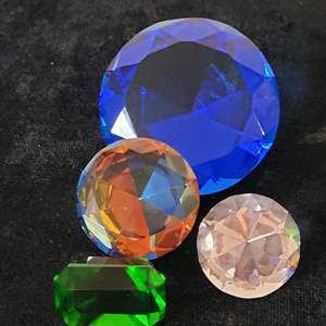 Lot # 345 (4) Jewel Paperweights
