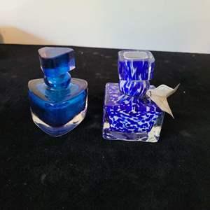Lot # 347 (2) Glass Perfume Bottles