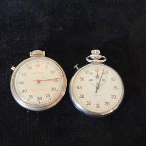 Lot # 348 (2) Vintage Stop Watches