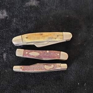 Lot # 349 (3) Vintage Pocket Knives