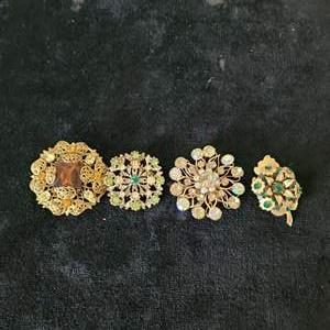 Lot # 351 (4) Gorgeous Brooches